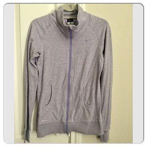 Nike Lavender Heathered Dri-Fit Full Zip Jacket